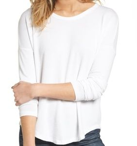 Rag and Bone White Hudson Long Sleeve Tee Size XS